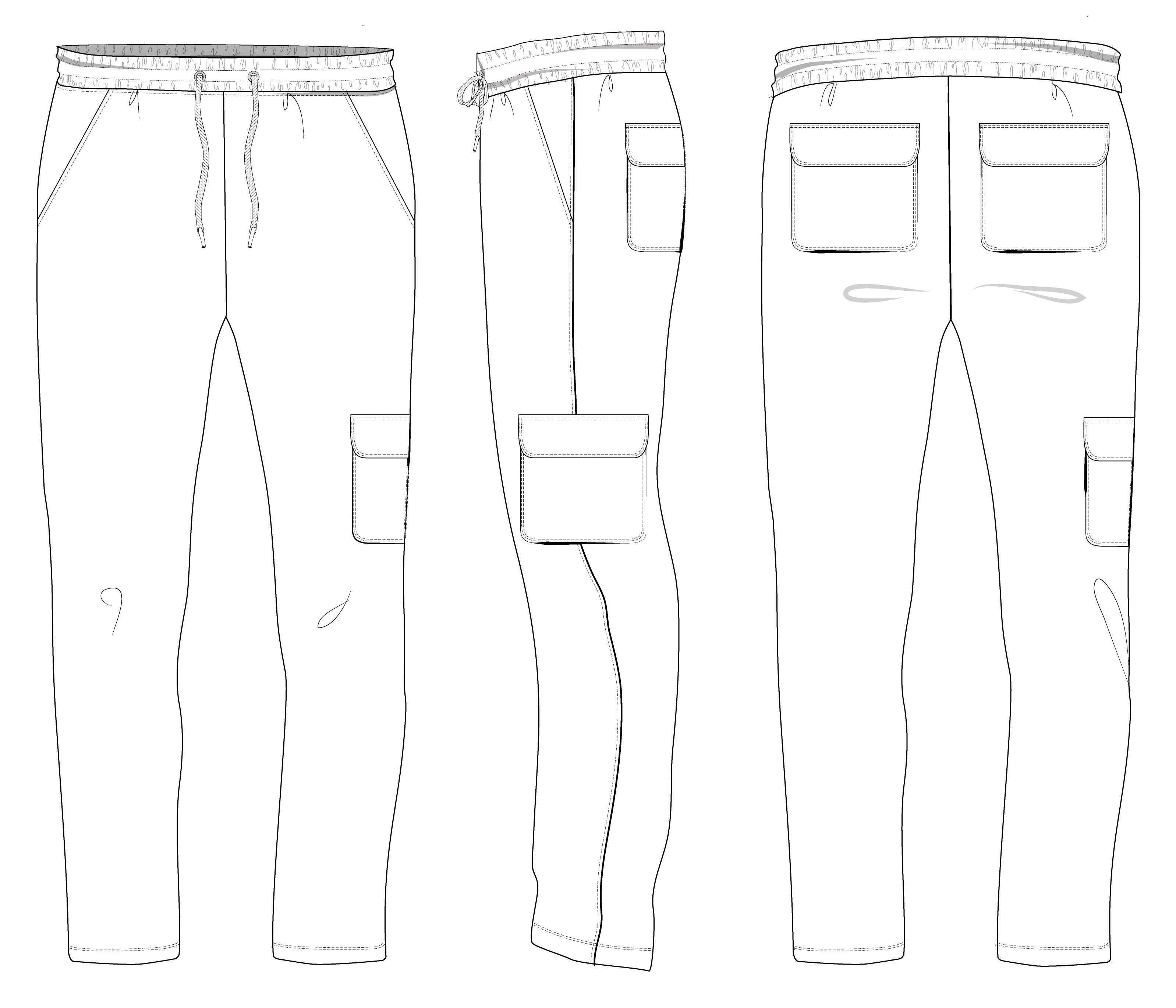 Брюки универсальные Shirr-line
