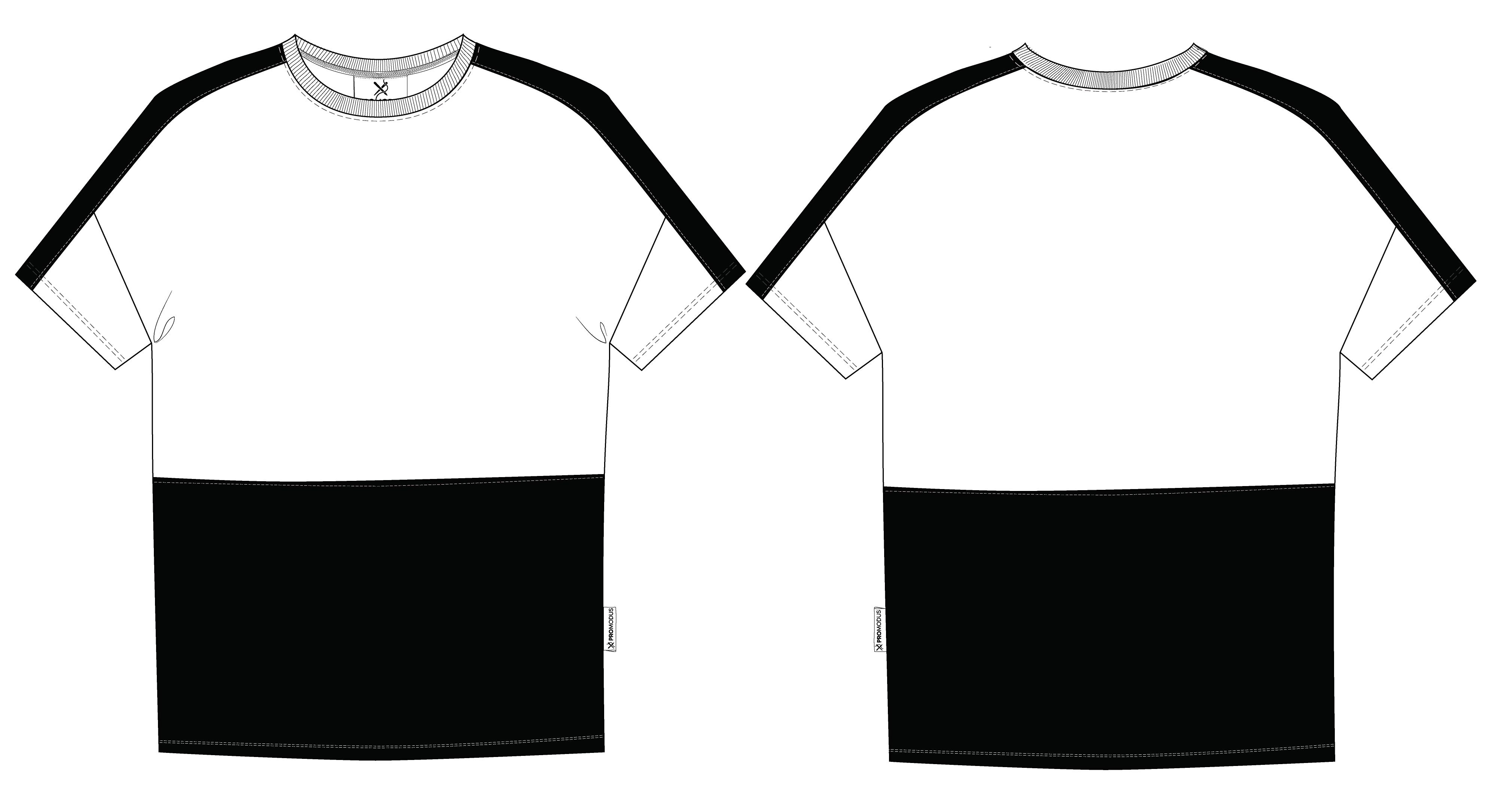 Футболка мужская комбинированная Oversize Colorblock