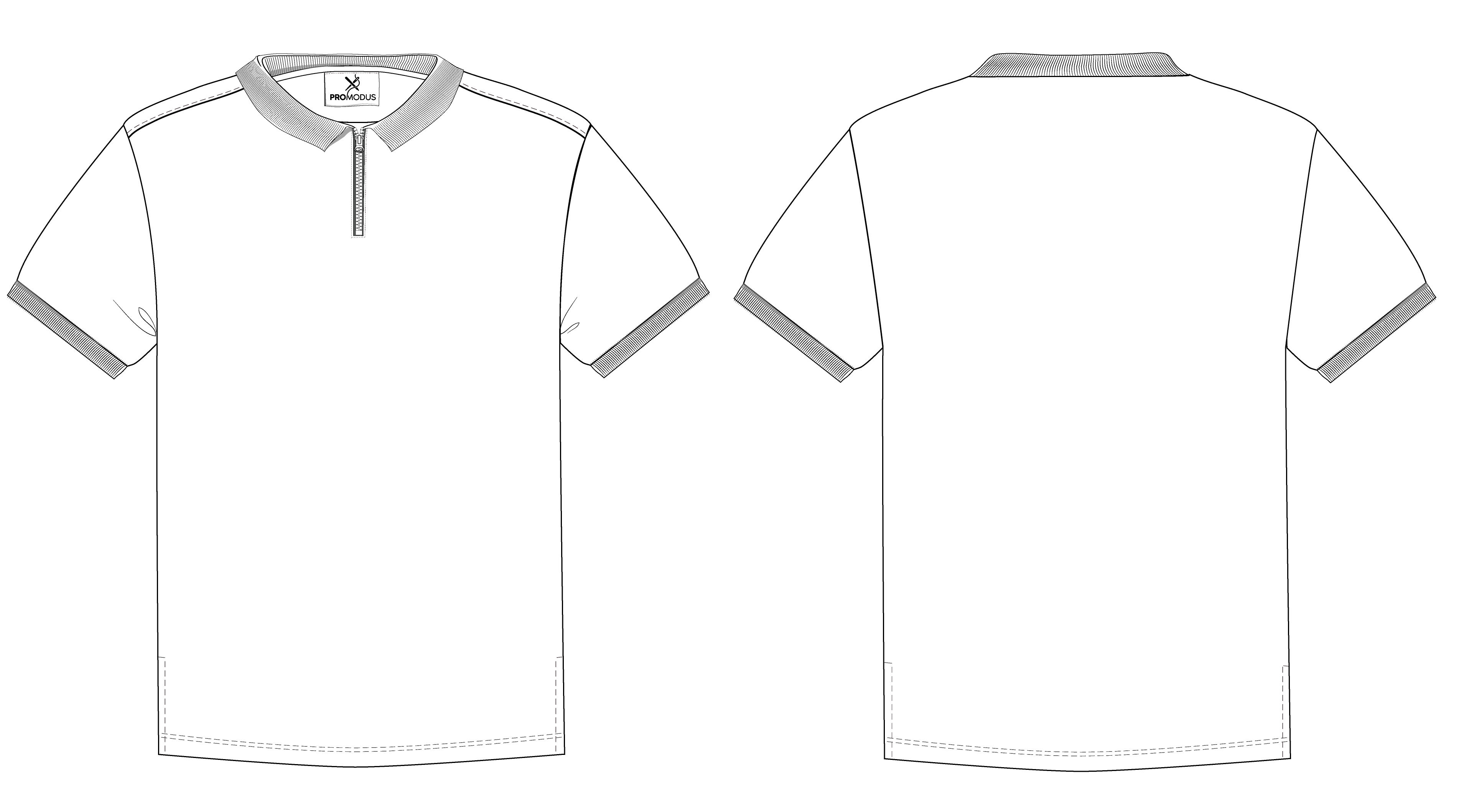 Поло мужское Basic Zip Lock