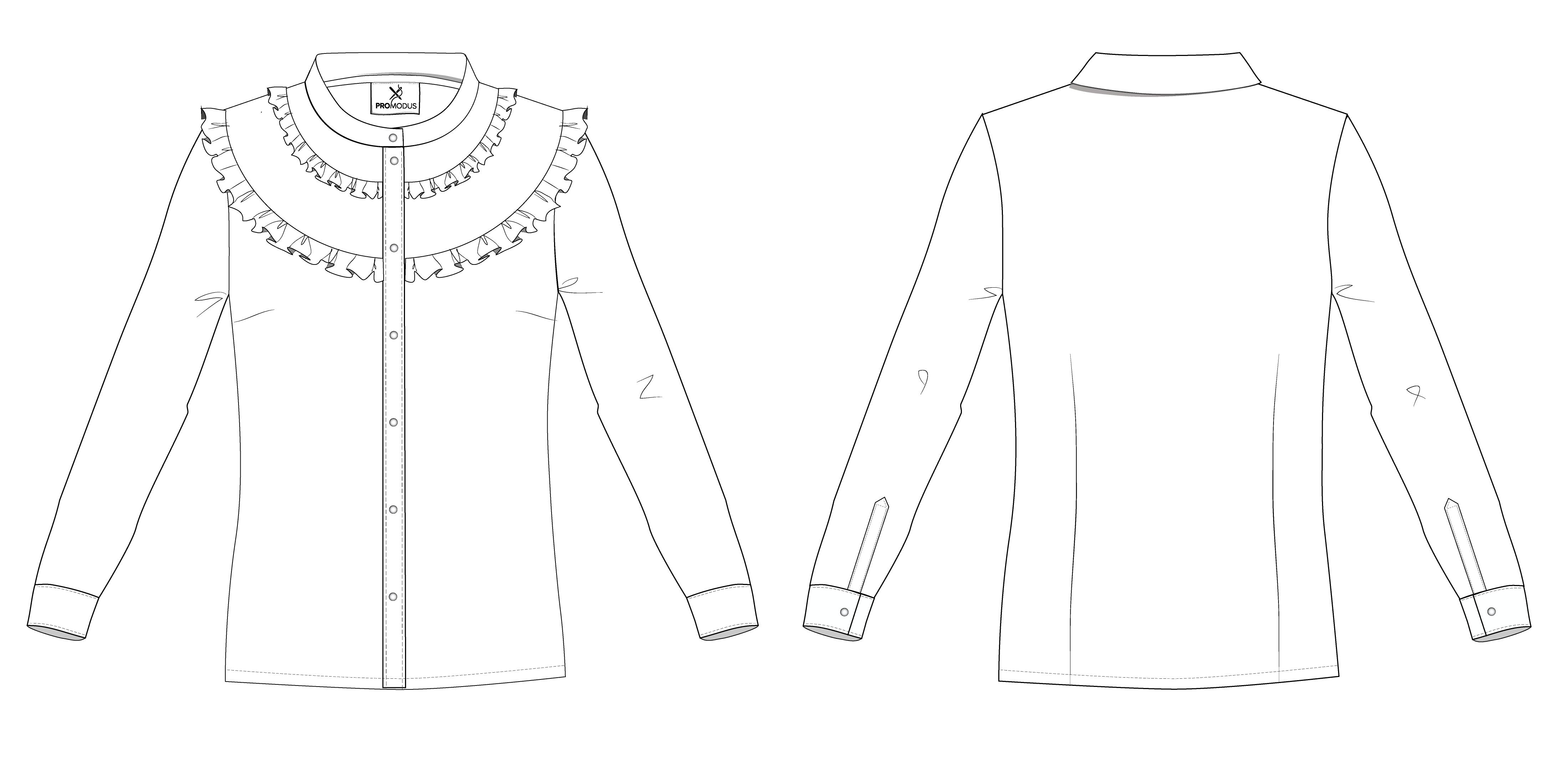 Рубашка женская Ruff